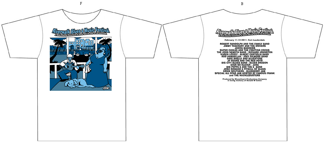 22 Riverwalk Blues Festival T-Shirts