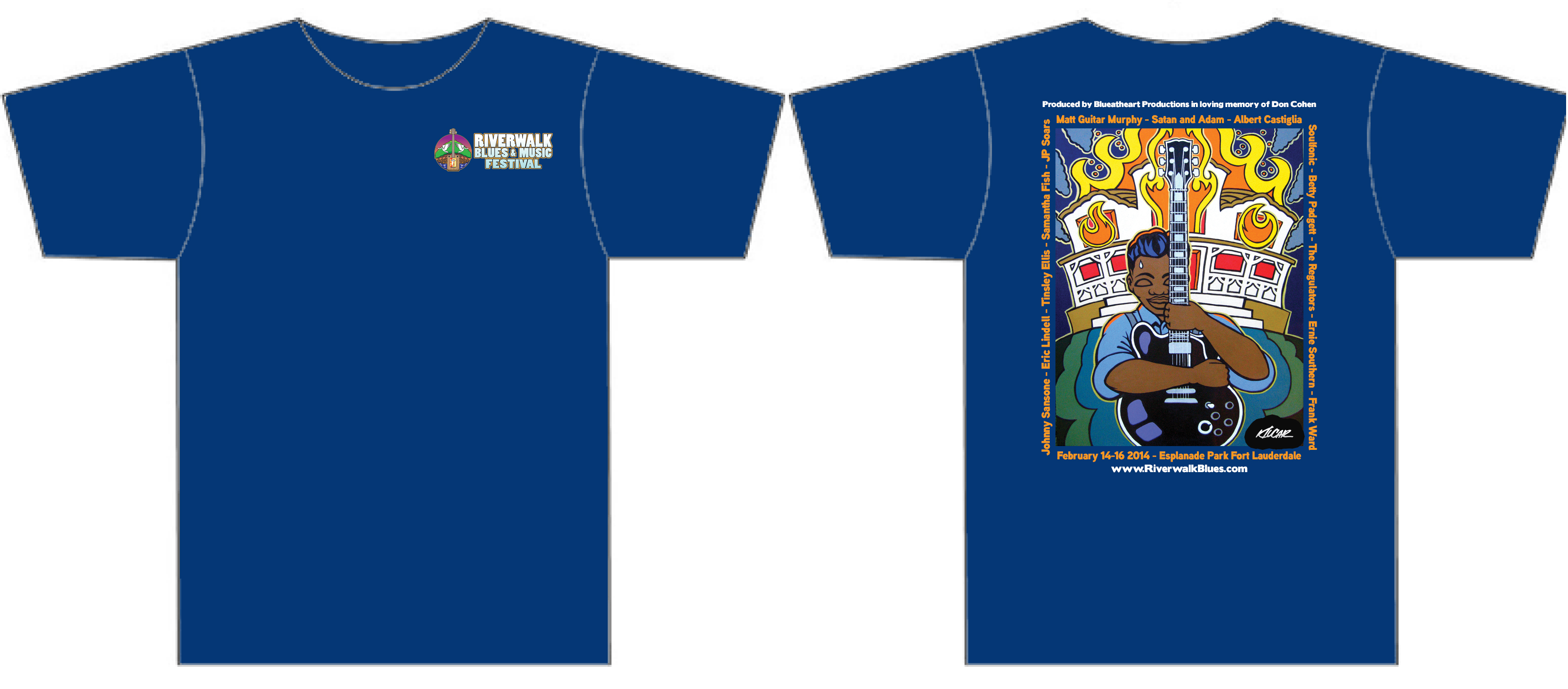 24 Riverwalk Blues Festival T-Shirt