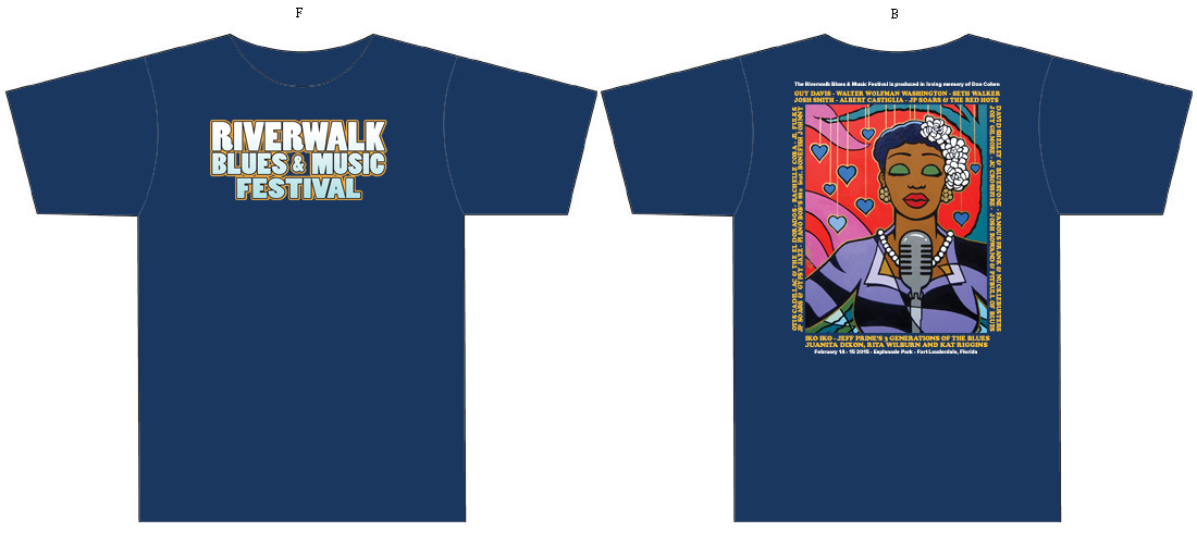 25 Riverwalk Blues Festival T-Shirt
